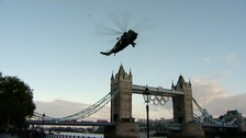 Helicopter over Tower Bridge
