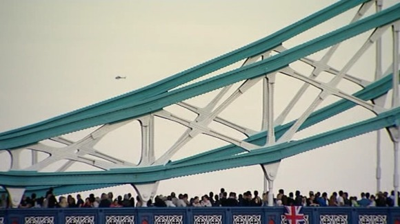 Crowd on Tower Bridge