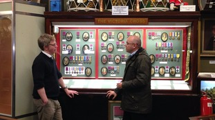 Adrian chats with Richard Davies, curator of the Regimental Museum of the Royal Welsh
