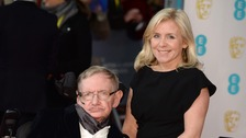 Lucy Hawking with her father Stephen