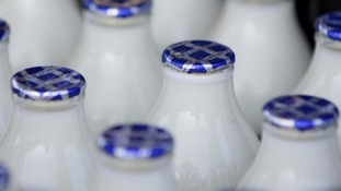 File photo of milk bottles.