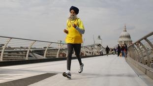 101-year-old marathon runner Fauja Singh.