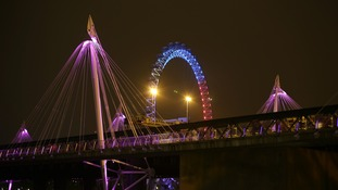 The Golden Jubilee Bridges and the London Eye.