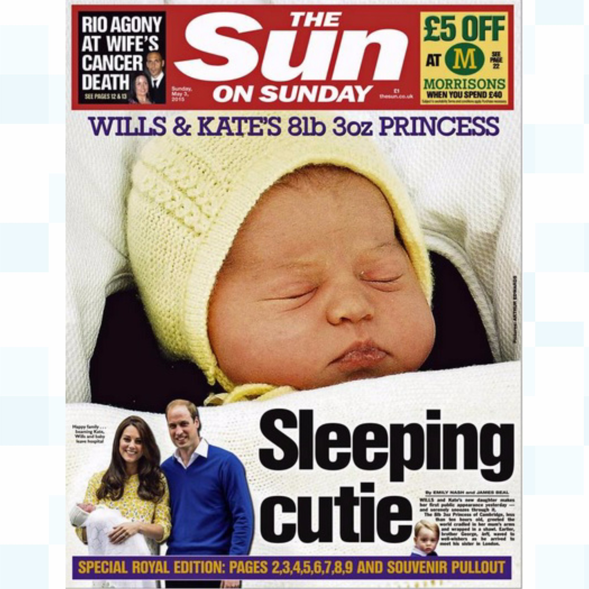 The Princess And The Papers: Royal Birth Dominates The