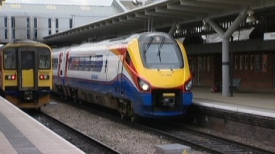 East Midland Trains service at train station in the region