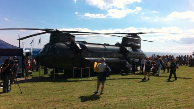 Chinook at Sunderland Airshow