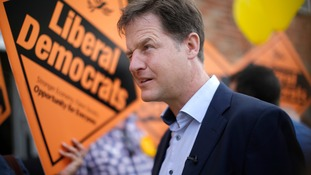 Nick Clegg on the campaign trail.