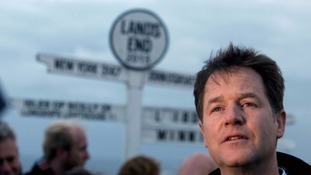 Nick Clegg is currently embarking on a Land's End to John O'Groats campaign marathon.