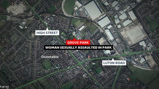 A woman was sexually assault in Grove Park in Dunstable.