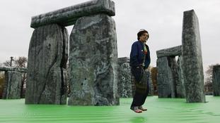 Olympics 'too serious' says bouncy Stonehenge artist