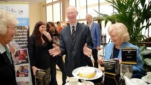 Jack Charlton at an early birthday celebration in Newcastle