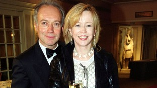 Angharad Rees pictured with actor Nicholas Grace