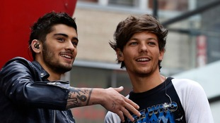 One Direction's Louis Tomlinson and his former band mate Zayn Malik