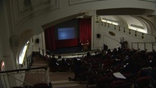 The former cinema as a lecture hall at the University of Westminster