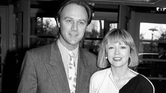 actress Angharad Rees with her then husband Christopher Cazenove in 1990