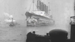 Memorial service 100 years after 1,193 people killed when liner 'Lusitania' torpedoed during WWI