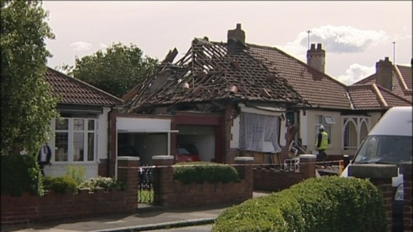 Gas explosion in Newcastle               
