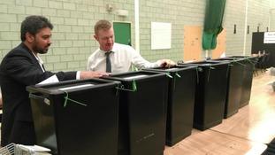 Walsall ballot boxes
