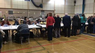 Counting underway in Wyre Forest.