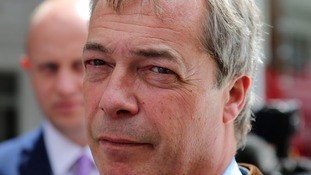 nigel farage pensive