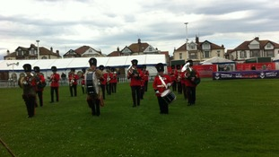 Marching band at the airshow