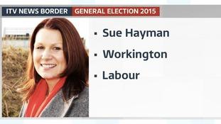 Cumbria's first female MP Labour's Sue Hayman