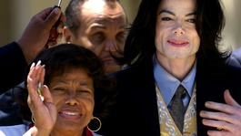 Michael Jackson with his mother Katherine
