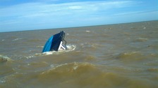 The working dive boat sank outside Lowestoft harbour
