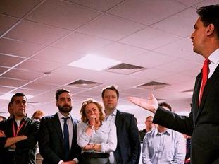 Ed Miliband speaks to his party faithful