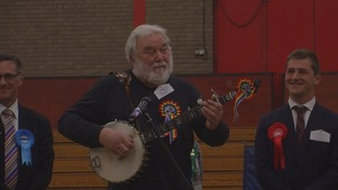 Joe Stead breaks into song following the declaration