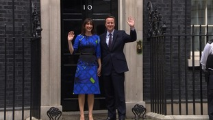 Samantha Cameron's 'disappearing' dress gives illusion she is fading into Number 10