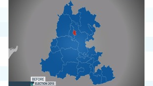 Thames Valley map before election