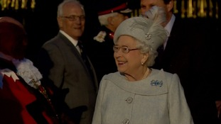 The Queen arrives at Windsor