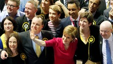 Nicola Sturgeon and supporters