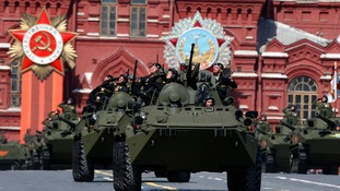 Russia stages military parade to mark 70 years since end of WW2