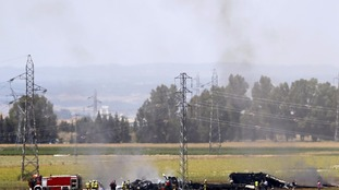 The wreckage of Airbus A400M