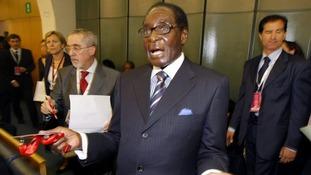Zimbabwean President Robert Mugabe.