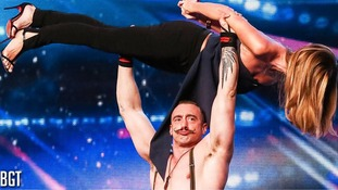 Amanda Holden gets held high in BGT