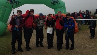 First team across the line was the combined cadet force from Churcher's College, Hampshire