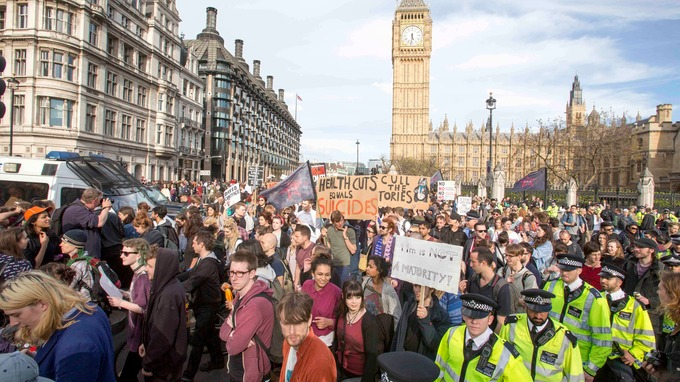 Image result for protest outside westminster
