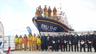 Hundreds turned out to the official dedication of Exmouth's new lifeboat
