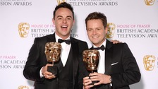 Ant and Dec pose with their Baftas