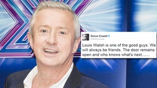Simon Cowell has hinted that Louis Walsh may be leaving the X Factor