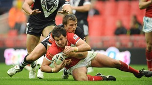Danny Jones is tackled