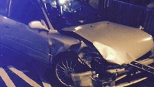 Five people were taken to hospital after a car crash yesterday