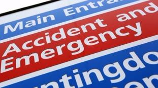 A&E hospital sign