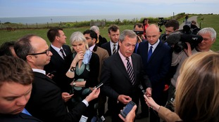 Nigel Farage announced his resignation on Friday - but this was rejected by the party