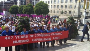 Heart unit campaigners