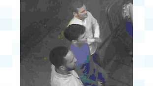 The three men police want to speak to about the assault
