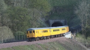 The first train tested on the new Borders Railway.
